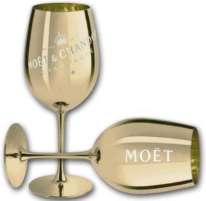 1 Moët & Chandon Imperial Pure Glass Champagnerglas Gold Champagner Glas Moet