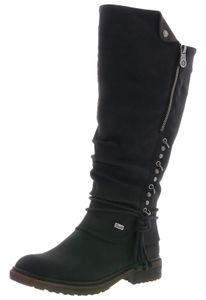 Rieker Damen Stiefel Langschaftstiefel 94759-00, Größe:38 EU, Farbe:Schwarz