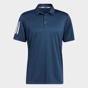 Adidas 3-Streifen Basic Poloshirt Herren Navy / Weiß, Größe:XXL