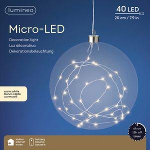 Lichtkugel Glas Kugel Micro LED Hängelampe Pendelleuchte 20 cm 40 LED
