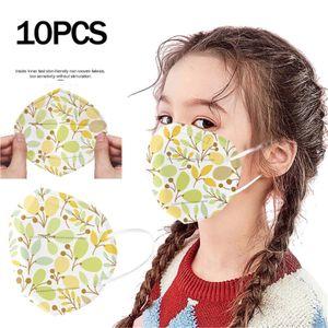 Kinder Kinder Babymaske KF95 Einweg-Gesichtsmaske Print T4Ply Ear Loop Masken
