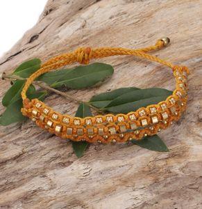 Perlenarmband, Makramee Armband, Herren Armband - Gelb, Armreifen & Armbänder Modeschmuck