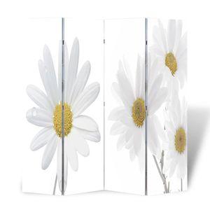 vidaXL Raumteiler klappbar 160 x 170 cm Blume
