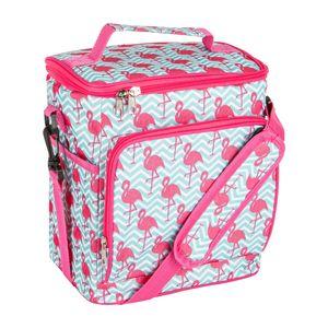 Nicola Spring Isolierte Kühltasche - Soft Sided Mittagessen, Picknick, Grillkühltasche mit Schultergurt - Flamingo