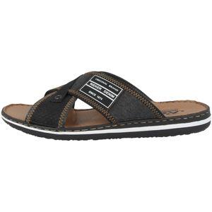 rieker Herren Sandale Schwarz Schuhe, Größe:45