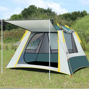 MECO Camping Zelt 3-4 Personen, Pop Up Wanderreisezeltes, Wasserdicht Belüftet Familienzelt für Outdoor Camping Trekking Grün