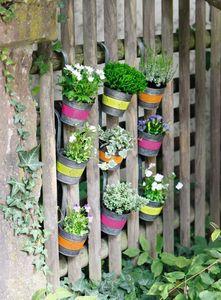 Pflanz-Hänger 'Jazzy Flowers', 3er Set Fenster Deko  aufhängen Terrasse Balkon