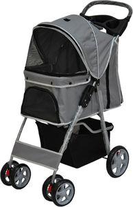 Cabino Hundebuggy Grau - Buggy für Hunde und Katzen - Pet Stroller