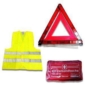 KFZ Unfall und Pannenset 2 (Warnweste Gelb)