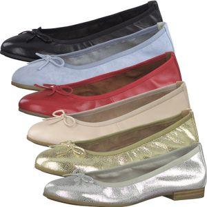 Tamaris Damen Ballerinas Slipper Leder 1-22116-26, Größe:40 EU, Farbe:Blau