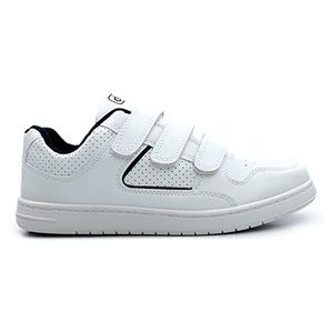 Dek Charing Cross Herren Sneaker / Turnschuhe mit Klettverschluss DF906 (44 EUR/10 UK) (Weiß)
