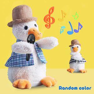 Sprechende Ente Elektrische Ente Plüsch Spielzeug Singen Tanzen Interaktive Tiere Kuscheltiere für Kinder Baby