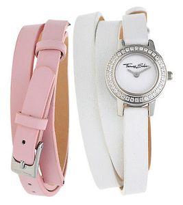 Thomas Sabo Damen Armbanduhr Glam&Soul Wechselarmband weiß/rosa