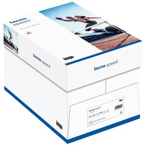 2500 Blatt Kopierpapier tecno SPEED, DIN A4, 80g/m² weiß, 5 x 500 Blatt