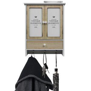 Wandorganizer 'Vintage Elements' mit Schublade, 2 Türen und 3 Haken