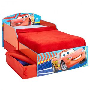 Cars Lightning McQueen Kinderbett  70 x 140 cm mit 2 Schubladen