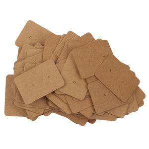 Braune hängende Karten aus Papier Ohrring-Anzeigen Schmuck Aufbewahrung Paket 100pcs / Lot