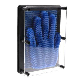 3D Bild Impression Intelligente Nagelspiel Spielzeug Dekoration Stiftkunst Blau