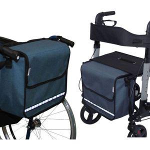 SENIORI Rollator / Rollstuhl Tasche Rollatortasche Rollstuhltasche 5. Blau