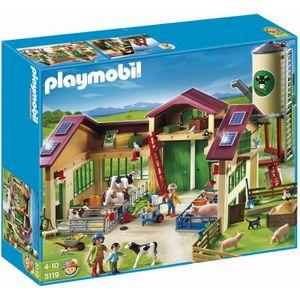 PLAYMOBIL 5119 Neuer Bauernhot Mit Silo Bauer Hof Tiere Melkanlage Futterautomat