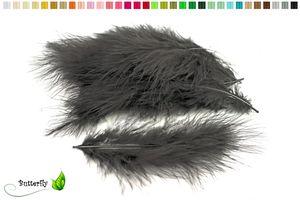 20 Marabufedern ca. 12-17cm, Farbauswahl:schwarz 030