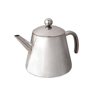 Leopold Vienna Teekanne Doppelwandig 1,2L,  Edelstahl hochglanz