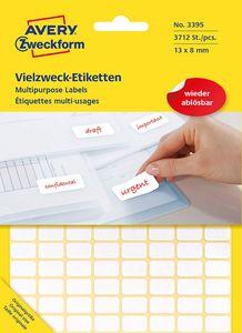 AVERY Zweckform Vielzweck Etiketten 13 x 8 mm ablösbar weiß 3.712 Etiketten