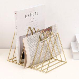 Metall Schreibtisch Buch Halter modernen minimalistischen Bücherregal für Home Office Gold Art-Deco-Stil 26 x 17,8 Metall Schreibtisch Buchhalter Bücherregal aus Metall