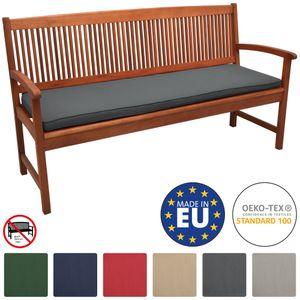 Beautissu Bankauflage Loft BK, color:Graphitgrau, Größe:150x48x5 cm