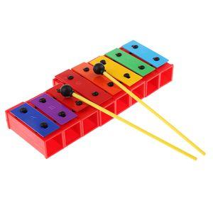 Holz 8-Ton Xylophon für Kinder/Baby: Schlaginstrument für kleine Musike, inkl Schlägel
