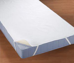 biberna Wasserundurchlässige Molton Matratzenauflage Uni Weiss 120x200 cm