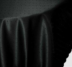 Tischdecke rund schwarz 160 cm Ø Punkte bügelfrei fleckenabweisend Mitteldecke