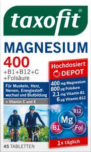 Taxofit   Magnesium 400 + B-Komplex + Folsäure + Vitamin C   45 Tabletten