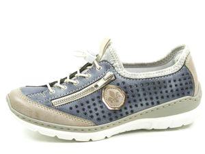 rieker Damen Schnürschuhe Blau Schuhe, Größe:42