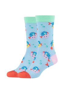 Fun Socks Socken im 2er Pack mit lustigem Kugelfisch-Muster multicolor One Size