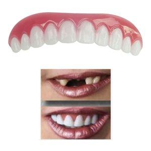Obere untere furniere falsche zähne schnapp auf lächeln zahnersatz zahn bequem 70 mm x 20 mm für den Oberkiefer Prothesenstabilisator senken