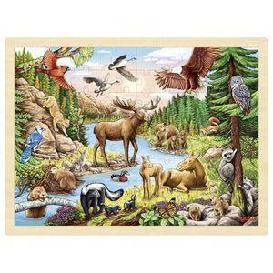 GOKI Einlegepuzzle Nordamerikanische Wildnis