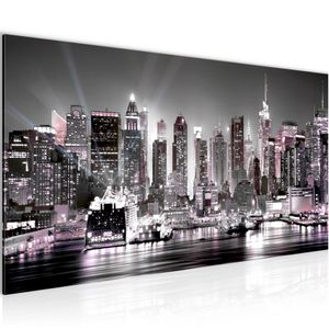New York City BILD 100x40 cm − FOTOGRAFIE AUF VLIES LEINWANDBILD XXL DEKORATION WANDBILDER MODERN KUNSTDRUCK MEHRTEILIG 605512b