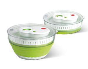 emsa Falt Salatschleuder TURBOLINE 4,5l transparent / grün