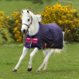 Horseware Amigo Hero 900 Pony Turnout Lite 0g - Grape/Pink,White & Powder Blue, Größe:110