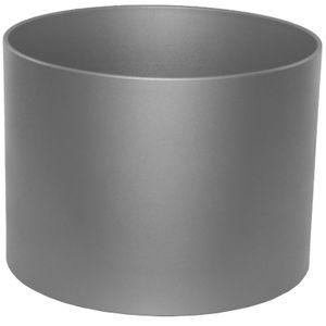 Kunststoff Blumentopf Boden Vision metallic graphit Ø 38 cm H 29 cm ohne Rollen
