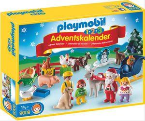 PLAYMOBIL 9009 1.2.3 Adventskalender - Weihnacht auf dem Bauerhof