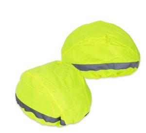 2x Regenschutz für Fahrradhelm Überzug Universal Neongelb 2 Reflektoren