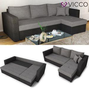 Ecksofa mit Schlaffunktion Sofa Couch Schlafsofa Polsterecke Bettfunktion Taschenfederkern