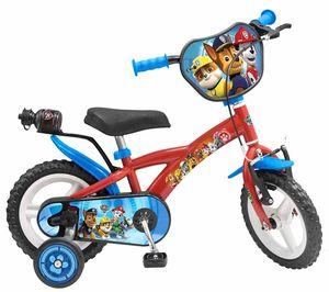 Kinderfahrrad Paw Patrol 12 Zoll mit Trinkflasche, Stützräder Kinder Fahrrad EVA