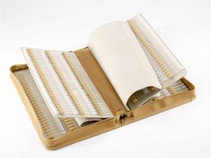 Homöopathische Taschenapotheke Klassik 468 Schlaufen Leder natur mit Klargläsern