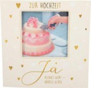 Hochzeitskarte Klappkarte 3D mit Musik & Licht Zur Hochzeit Ja kleines Wort - großes...