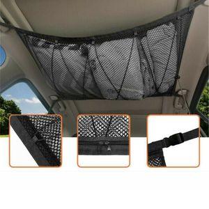 90x60cm Auto hängendes Netz Tasche Aufbewahrungsnetz Tragetasche für die Gepäckaufbewahrung von Autos