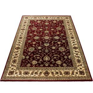 Klassik Orient Teppich Edle Bordüre Traditionelle Wohnzimmerteppich Rot Beige, Grösse:300x400 cm