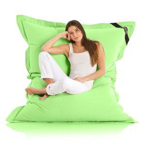 Original LAZY BAG Indoor & Outdoor Sitzsack XXL 400L Riesensitzsack Sitzkissen Sessel für Kinder & Erwachsene 180x140cm - Grün